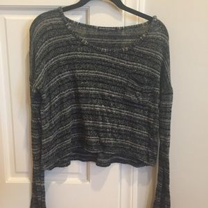 Brandy Melville Striped Cropped Sweater